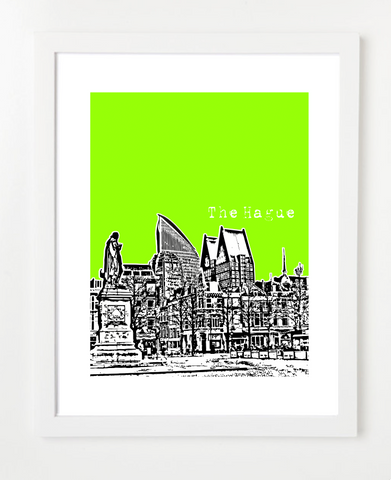 The Hague Netherlands Europe Posters and Skyline Art Prints | By BirdAve