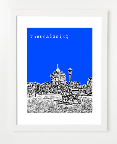 Thessaloniki Greece Europe Posters and Skyline Art Prints | By BirdAve