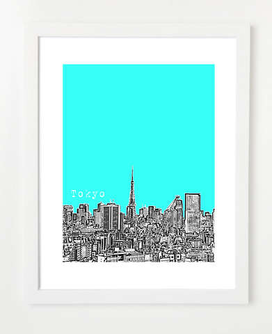 Tokyo Japan Asia Posters and Skyline Art Prints | By BirdAve
