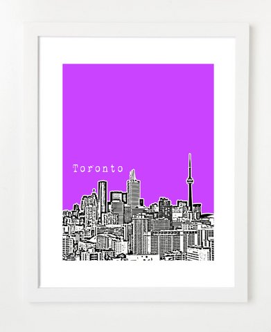 Toronto Ontario Canada Posters and Skyline Art Prints | By BirdAve