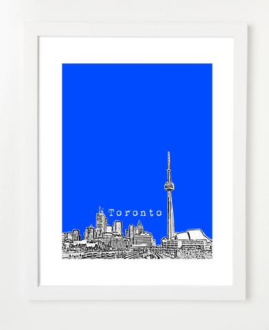 Toronto Ontario Canada Version 1 Posters and Skyline Art Prints | By BirdAve Posters