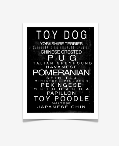Toy Dog Art Print - Miniature Dogs - Love Your Pet Art - Pet Prints