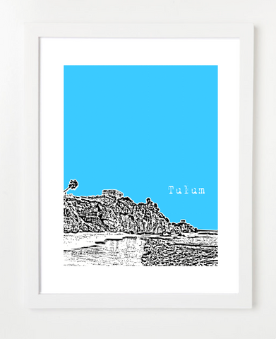 Tulum Mexico Posters and Skyline Art Prints | By BirdAve