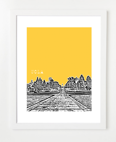 USA, Skyline Print, Los Angeles, CaliforniaSkyline Art Print and Poster | By BirdAve Posters