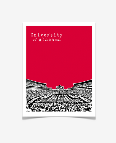 University of Alabama Crimson Tide Poster