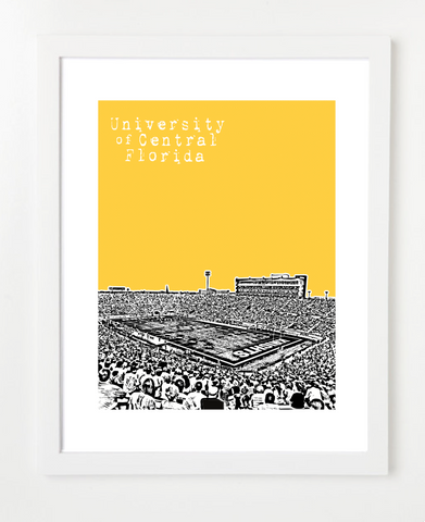 University of Central Florida Knights Bright House Networks Stadium Skyline Art Print and Poster | By BirdAve Posters