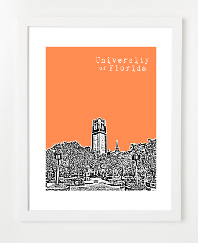 Gainesville Florida Skyline Art Print and Poster | By BirdAve Posters
