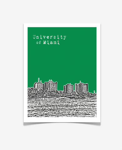 University of Miami Hurricanes Florida Poster