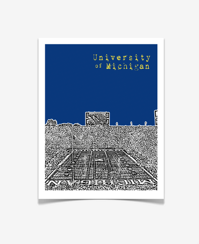 University of Michigan Poster - Michigan Stadium