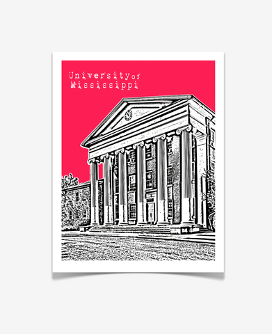 Oxford Mississippi Poster - Ole Miss