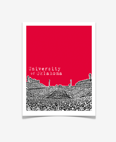 University of Oklahoma Memorial Stadium Poster