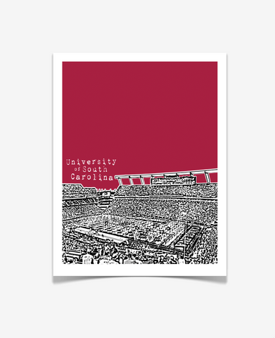 University of South Carolina Gamecocks Poster