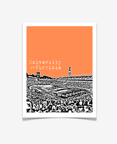 University of Virginia Cavaliers Scott Stadium Poster