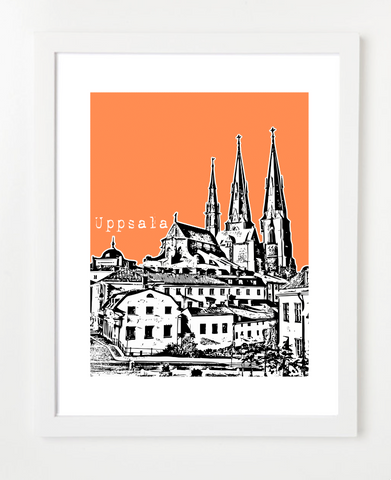 Uppsala Sweden Europe Posters and Skyline Art Prints | By BirdAve