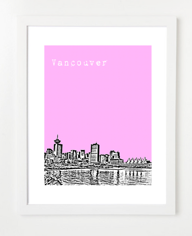 Vancouver British Columbia Canada VERSION 2 Posters and Skyline Art Prints | By BirdAve Posters