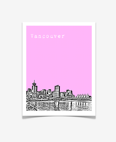Vancouver British Columbia Canada Poster VERSION 2