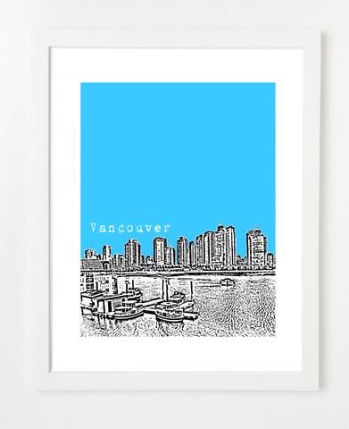 Vancouver British Columbia Grandville Island Posters and Skyline Art Prints | By BirdAve Posters