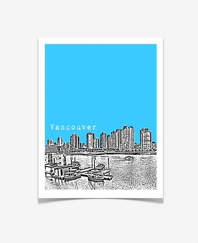 Vancouver British Columbia Canada Poster VERSION 1