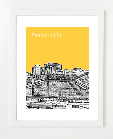 Nashville Tennessee Skyline Art Print and Poster | By BirdAve Posters