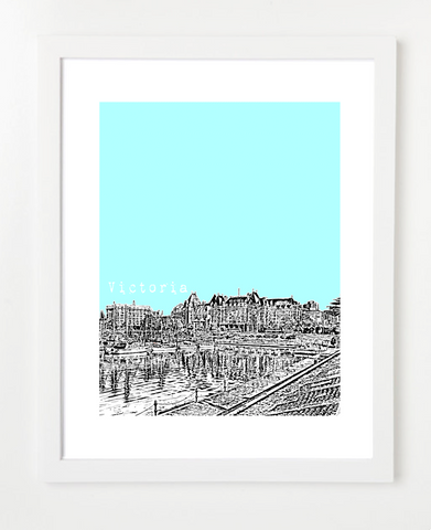 Victoria British Columbia Canada Posters and Skyline Art Prints | By BirdAve Posters