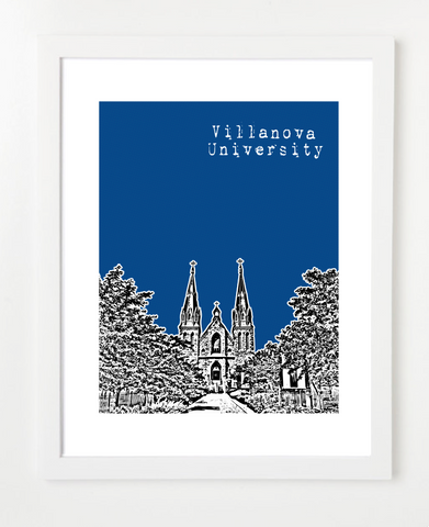 Villanova University Philadelphia Posters and Skyline Art Prints | By BirdAve