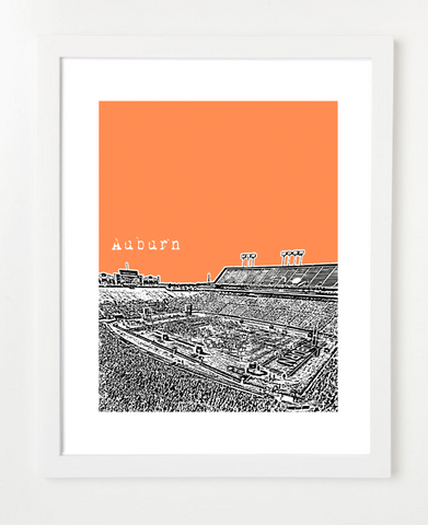 Auburn University Football Skyline Art Print and Poster | By BirdAve Posters