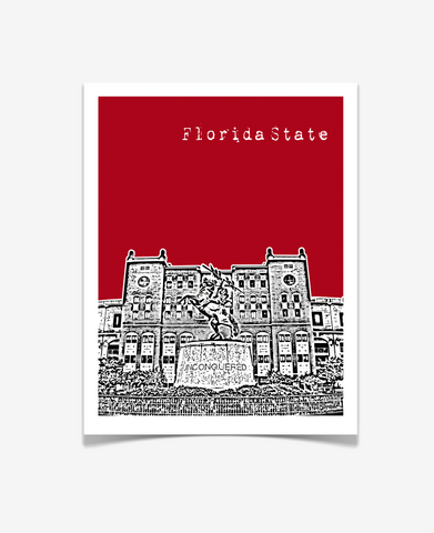 Florida State University Poster - Doak Campbell Stadium - VERSION 2