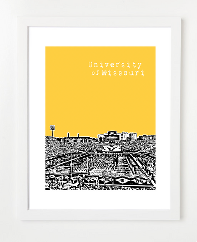 Mizzou University of Missouri Faurot Field Skyline Art Print and Poster | By BirdAve Posters