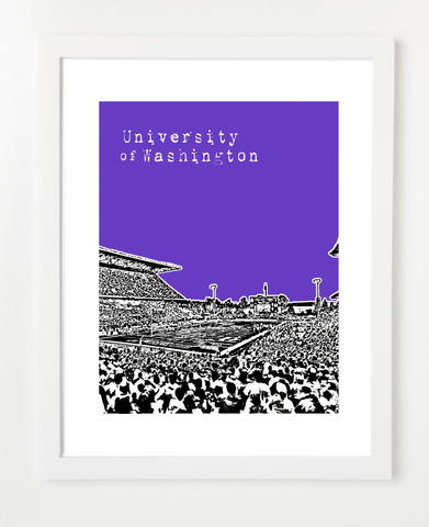 Washington Huskies Seattle Poster