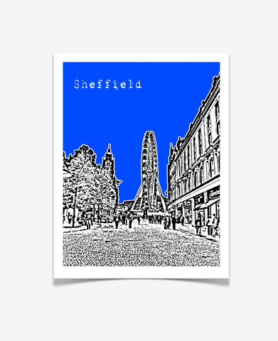 Sheffield England Europe Poster