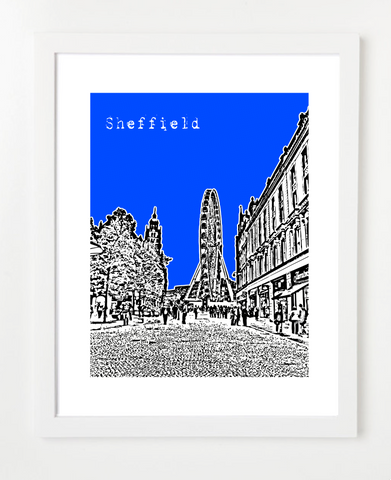 Sheffield England Europe Posters and Skyline Art Prints | By BirdAve