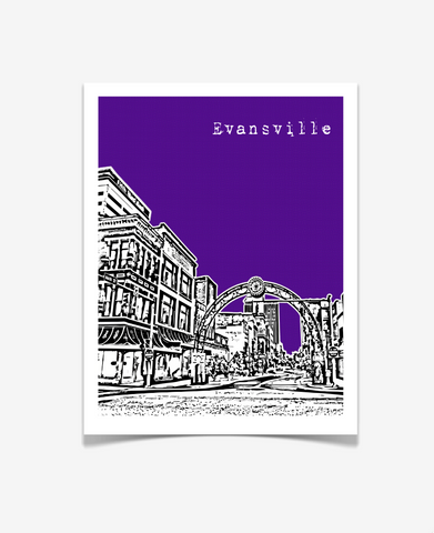 Evansville Indiana Poster - VERSION 2