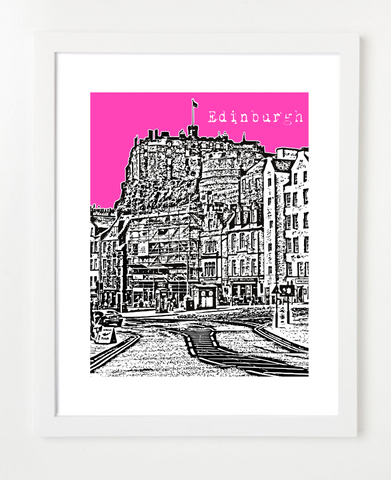 Edinburgh Scotland Europe VERSION 2 Posters and Skyline Art Prints | By BirdAve