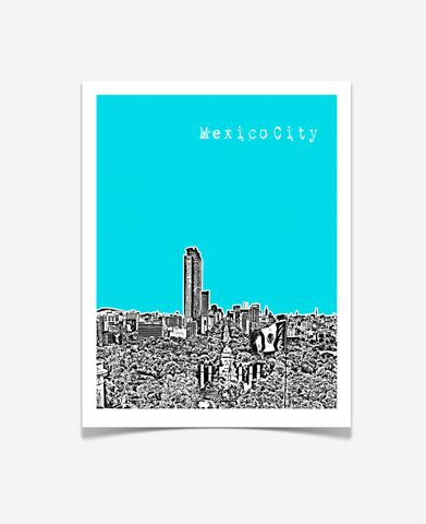 Mexico City Mexico Poster VERSION 1