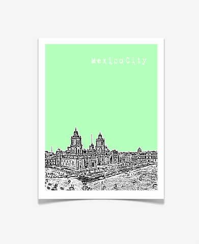 Mexico City Mexico Poster VERSION 2