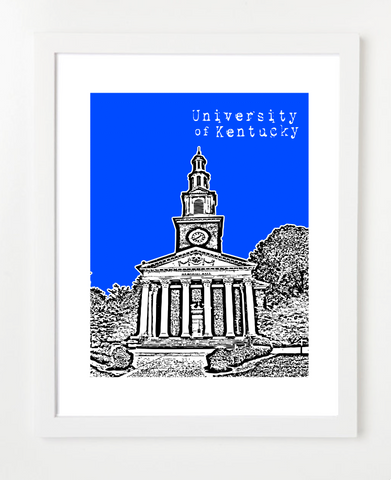 Lexington Kentucky University of Kentucky Skyline Art Print and Poster | By BirdAve Posters