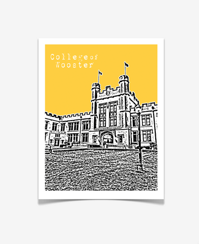 College of Wooster Ohio Poster
