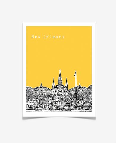New Orleans Louisiana Poster VERSION 3