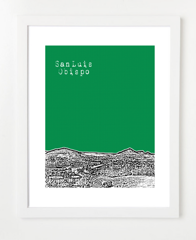 San Luis Obispo California Poster - VERSION 2
