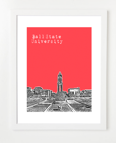 Ball State University Muncie Indiana Poster