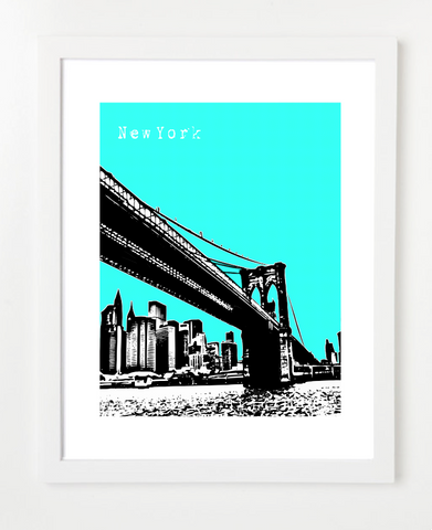 New York Brooklyn Bridge Poster