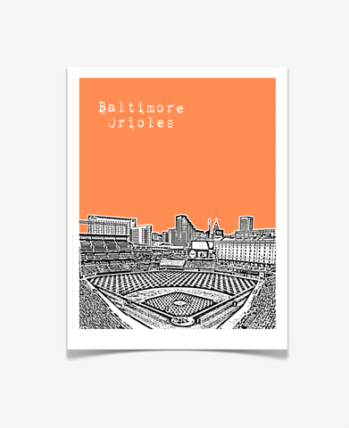 Baltimore Orioles Camden Yards Poster