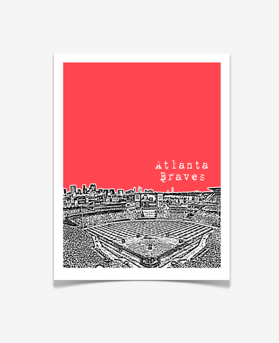 Atlanta Braves Turner Field Georgia Poster