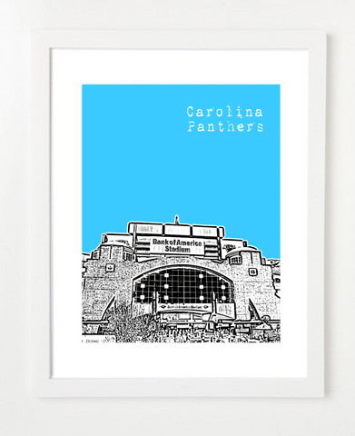 Carolina Panthers Charlotte City North Carolina Poster