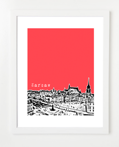 Warsaw Poland Europe Posters and Skyline Art Prints | By BirdAve