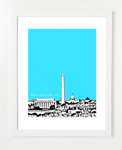 Washington DC USA Skyline Art Print and Poster | By BirdAve Posters