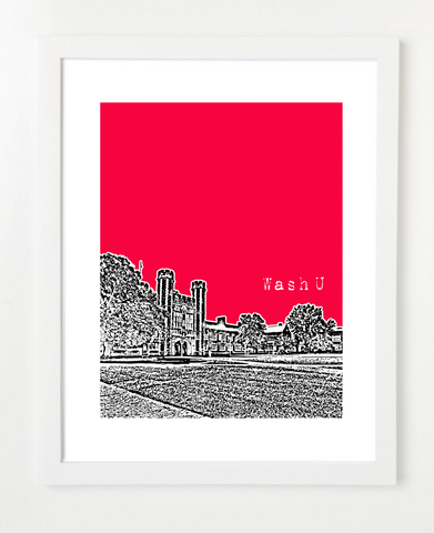 St. Louis Washington University Skyline Art Print and Poster | By BirdAve Posters