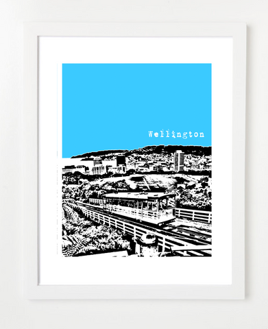 Wellington New Zealand Posters and Skyline Art Prints | By BirdAve