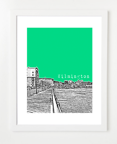 Wilmington Delaware USA Skyline Art Print and Poster | By BirdAve Posters