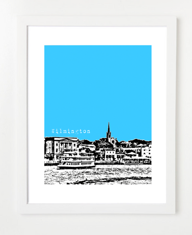 Wilmington North Carolina Skyline Art Print and Poster | By BirdAve Posters